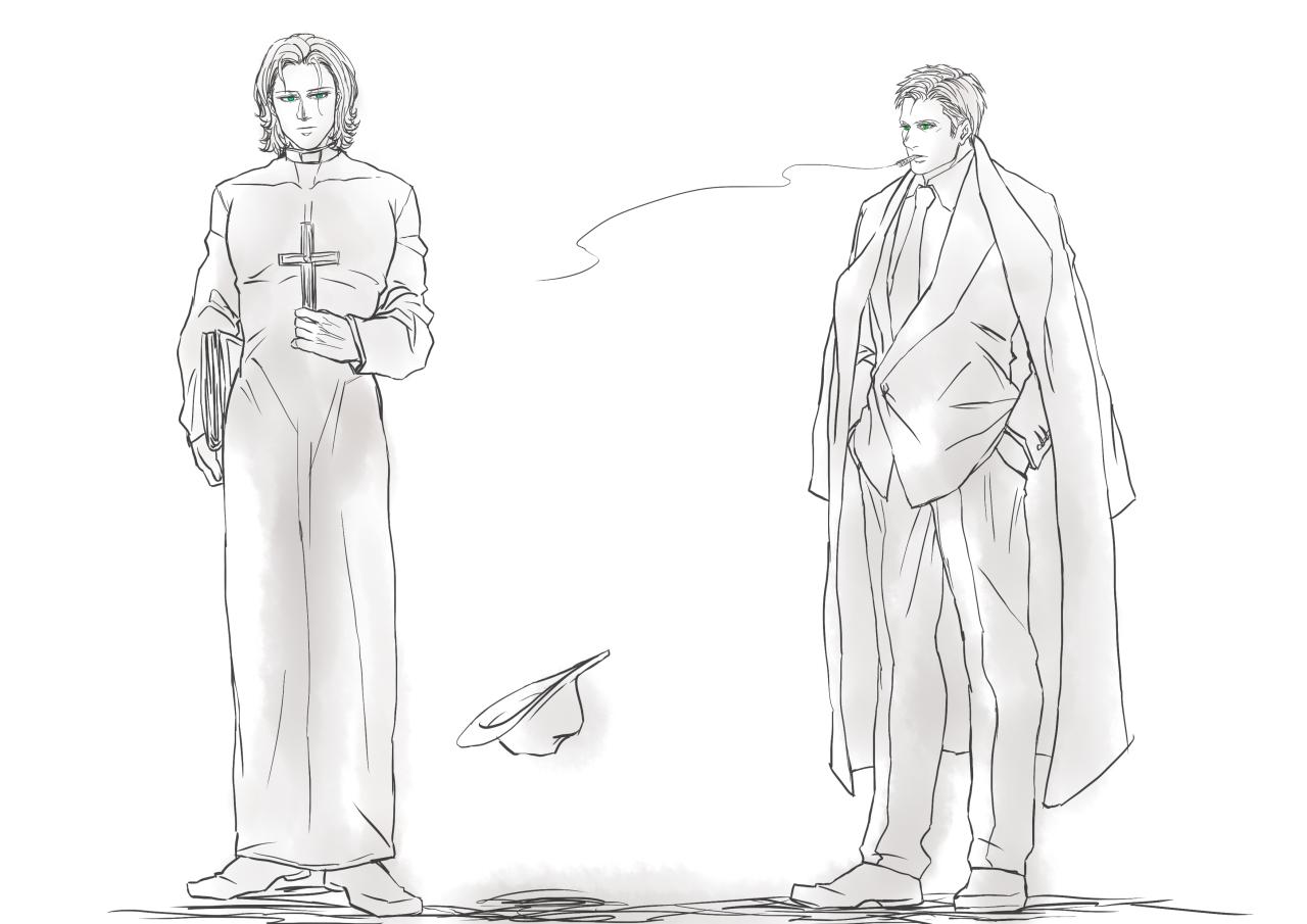 "chuangshijie: "" Mafia boss!Dean and priest!sammy. """