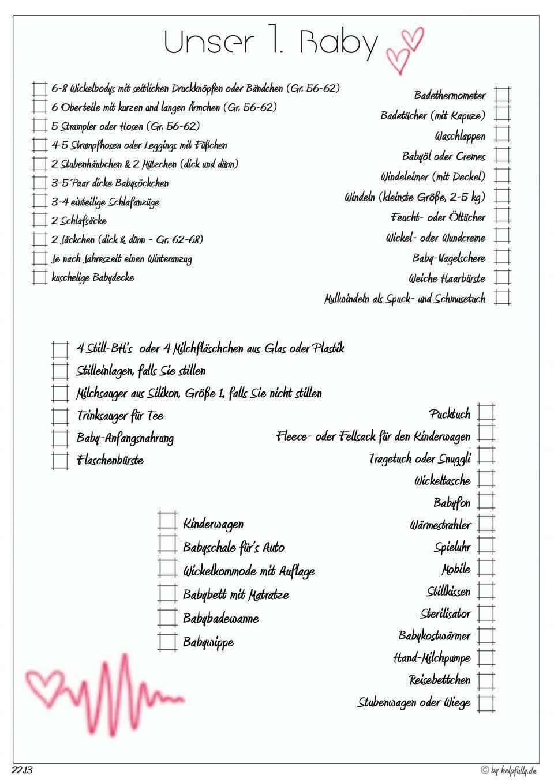 Checkliste Unser 1 Baby Herzlinie Rot In 2020 Checkliste Liste Babybettchen