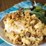 Crock-Pot Swiss Chicken Casserole #chickencasseroledinners