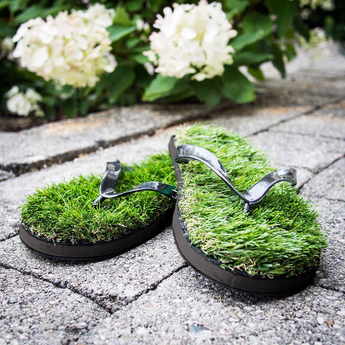 Gras Flip Flop | Geschenkideen / gift ideas | Ausgefallene ...