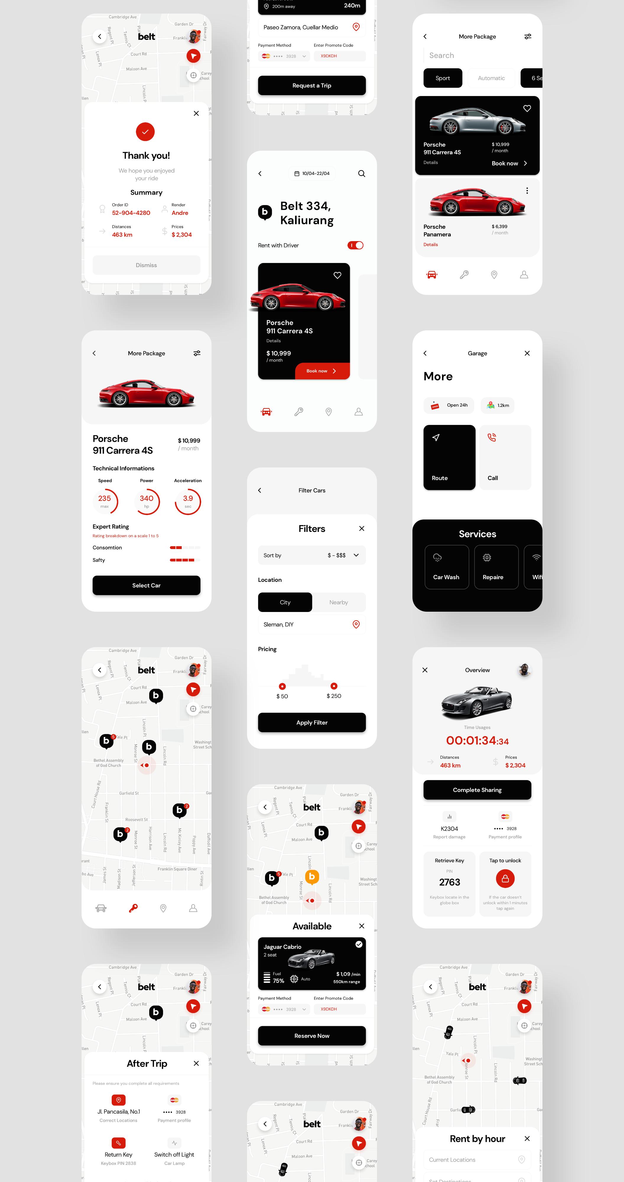 Belt App UI kit - UI Kits
