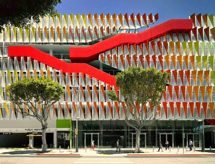 Leed gold parking deck boasts a bevy of ev charging