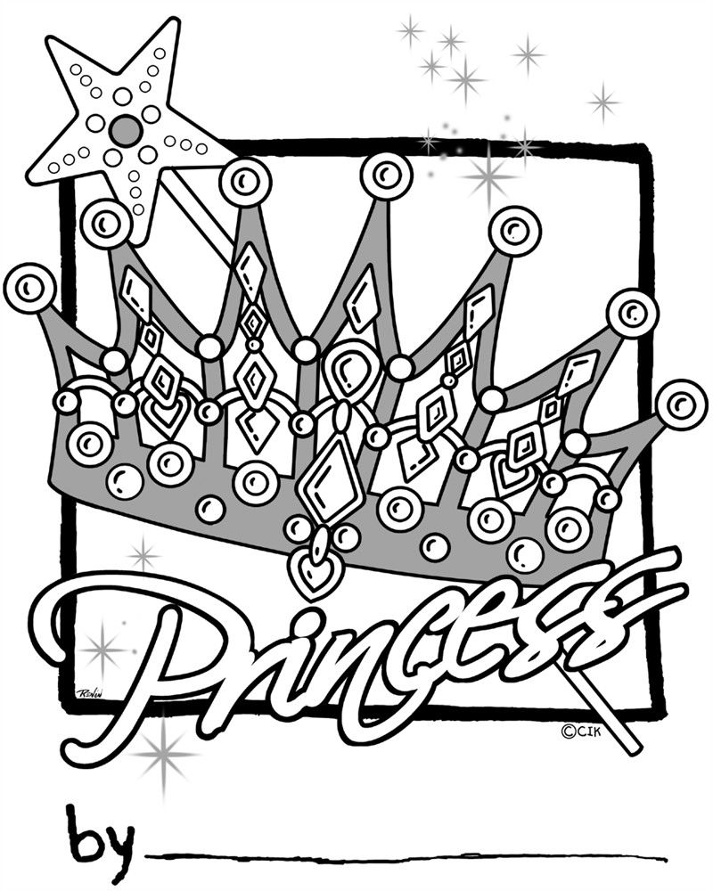 Free Coloring Pages Princess Crowns Through the