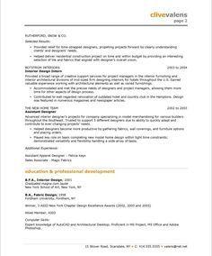 Free Interior Design Resume Templates | Interior Designer | Free Resume Samples | Blue Sky Resumes