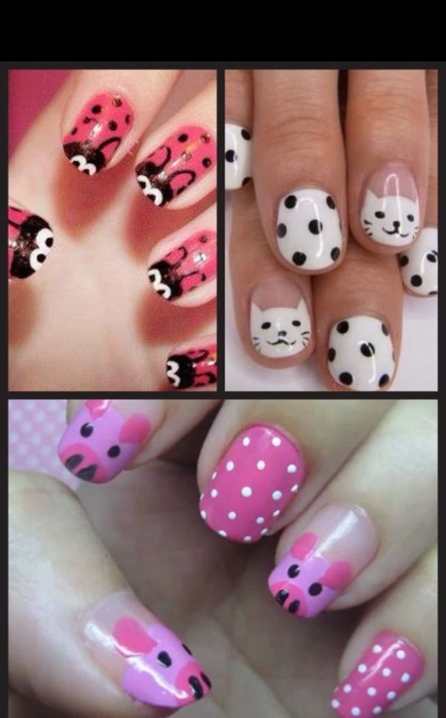 Cute nails, but whose little girls can hold still that ...