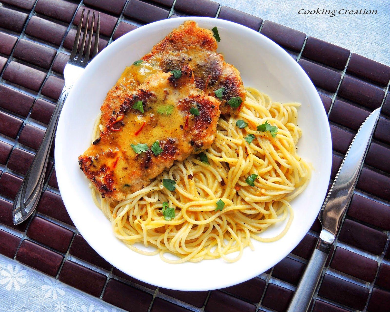 Cooking Creation: Chicken Scallopini with Saffron Cream Sauce