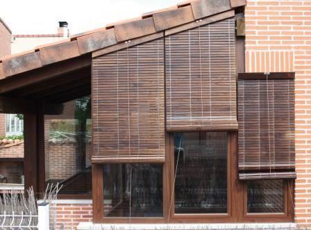 Persianas de madera para terrazas sants jard n terraza - Estores para balcones ...