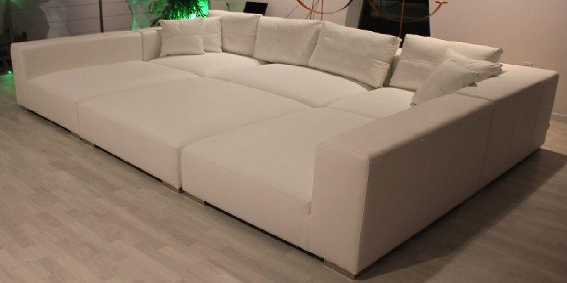 Modern Modular Pit Sectional Sofa