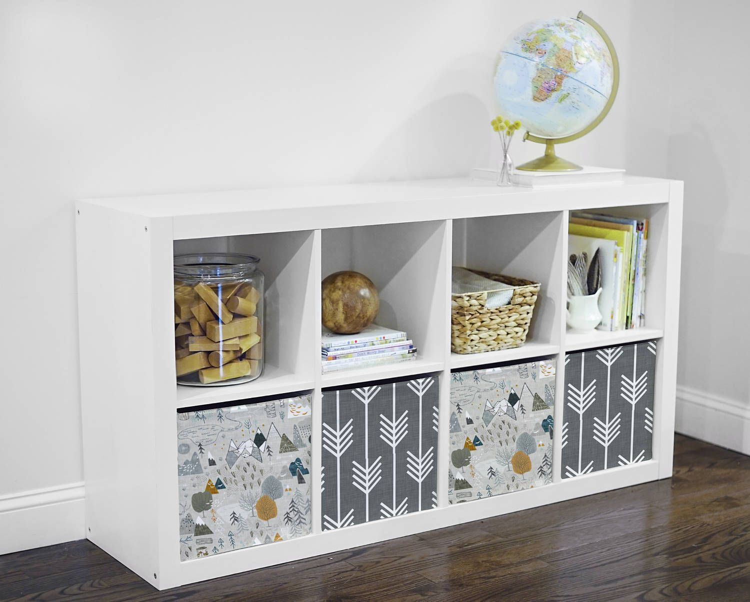 Personalize Your Ikea Storage Unit With Our Fun Fabric Covers Perfect For Nurseries Kids Rooms Playrooms Or Living Room Kallax Ikea Ikea Storage Units Ikea