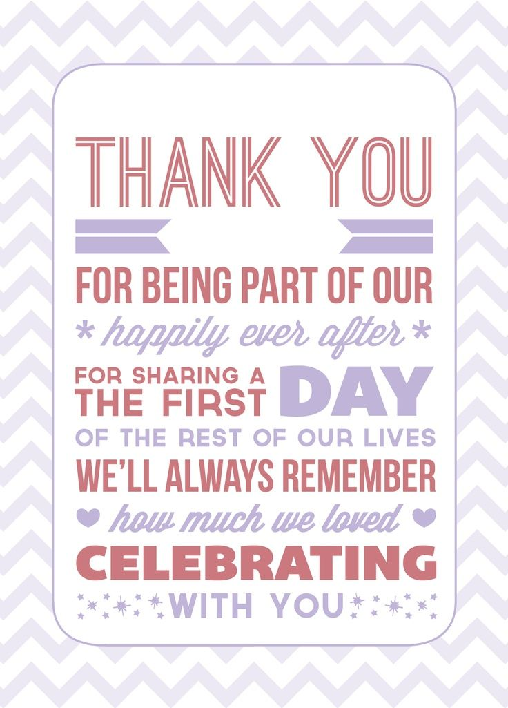 Typography Wedding Thank You Notes