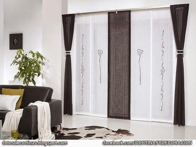 PANELES JAPONESES  FOTOS DE CORTINAS Decoración con cortinas