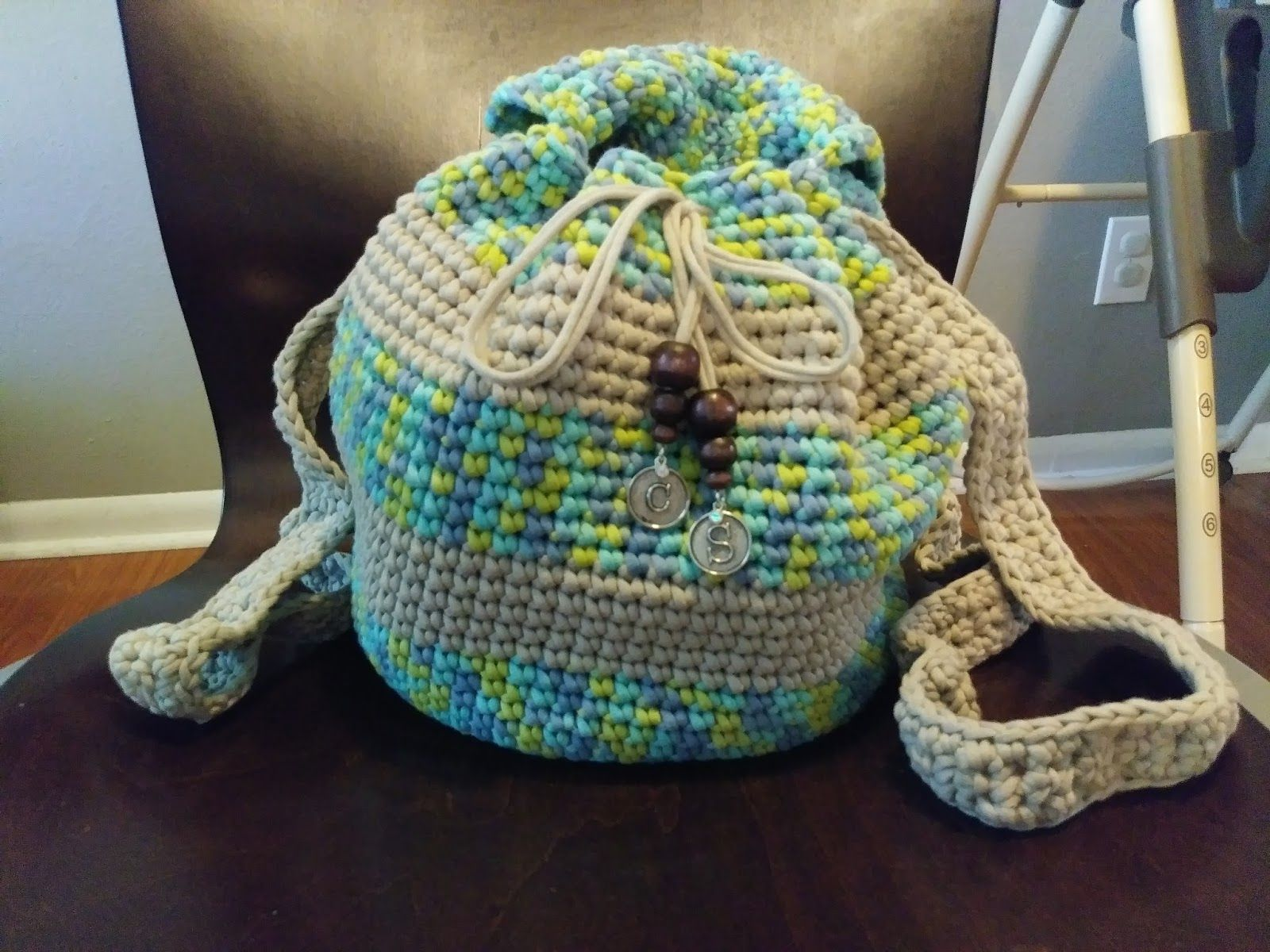 Slouchy Stripes Backpack, free crochet pattern. Adorable backpack ...