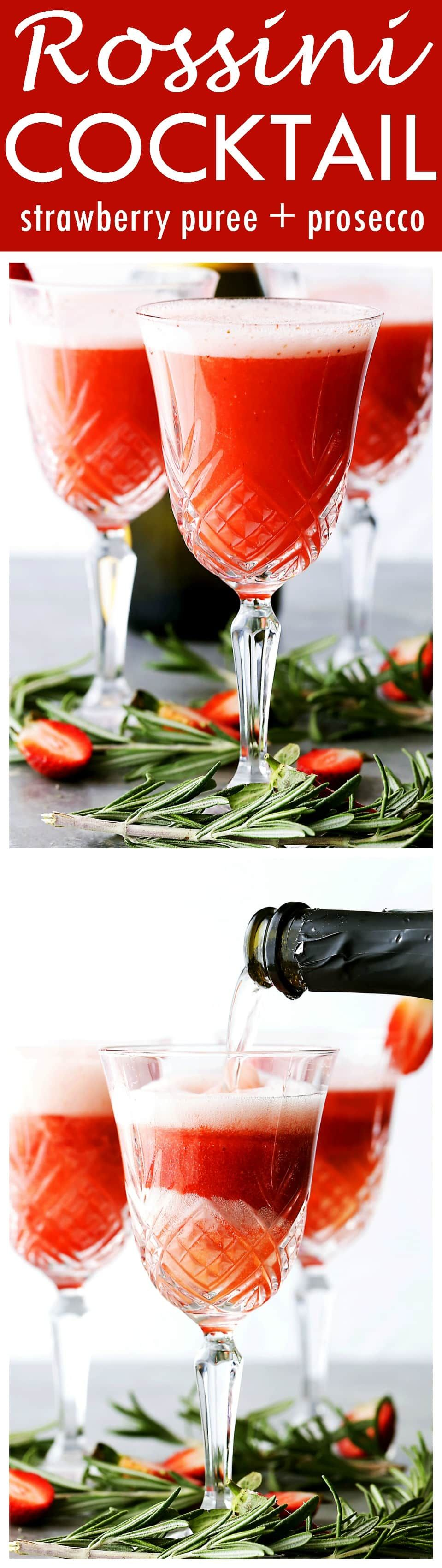 Rossini cocktail festive and delicious