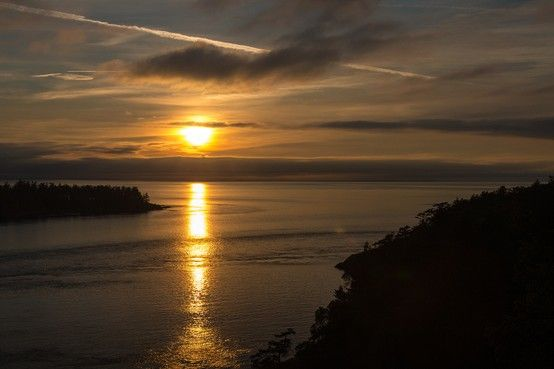 #Sunset over Puget Sound from the Pacific Northwest Trail in Deception Pass State Park. #PacificNorthwestTrail, #PNT, #hiking, #Washington, #PNW