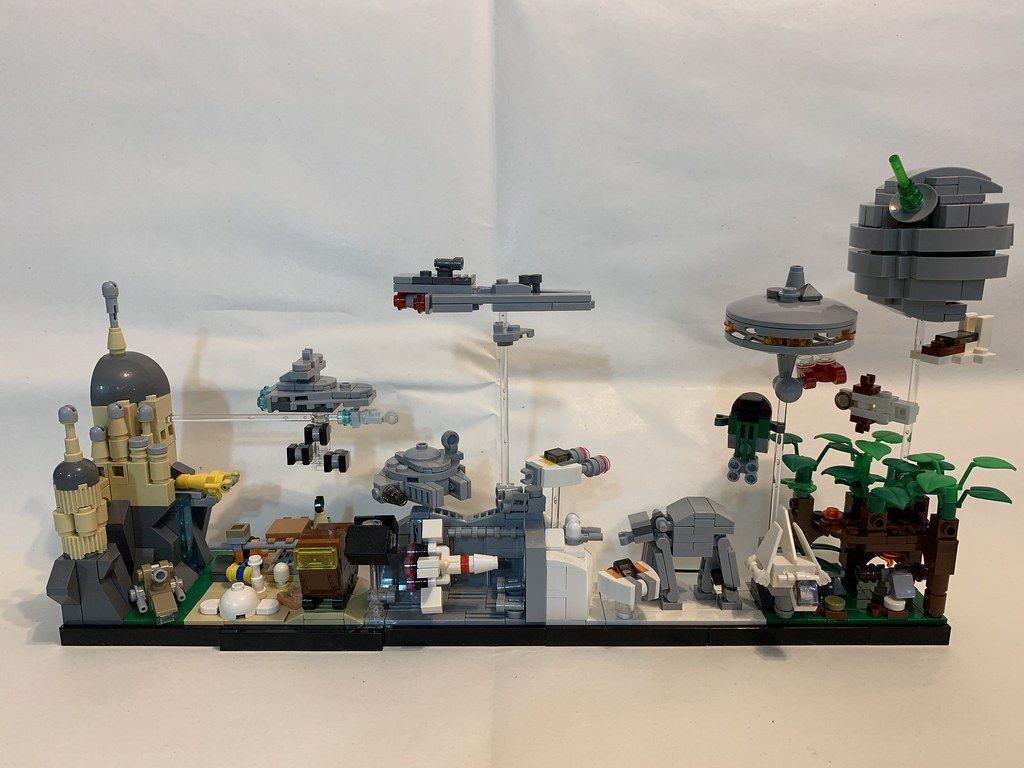 Lego Star Wars Skyline Architecture Moc Lego Star Wars Mini Lego Star Wars Lego
