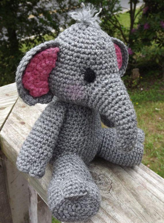 Elefante Amigurumi Crochet patrón PDF muñeca por LisaJestesDesigns ...