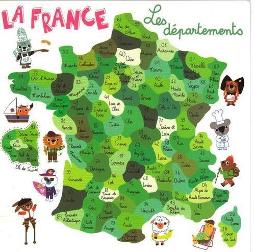 Voici les départements de la France métropolitaine. Il ne faut...
