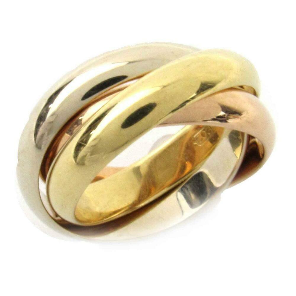 7ecedb7d406a7 eBay #Sponsored Authentic Cartier Trinity ring 18KYG(750) x 18KWG x ...