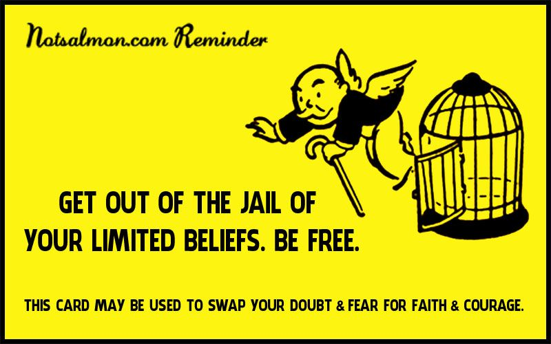 Get Out Of Jail Free Card Jail Beliefs Card Template