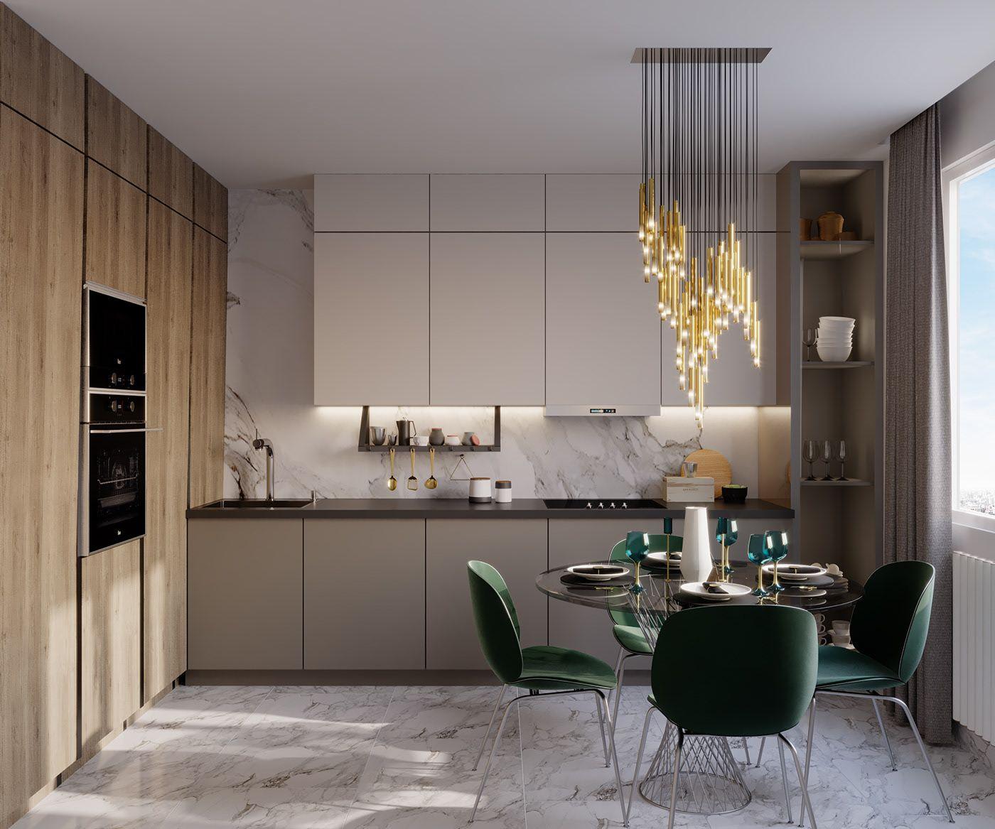 3D Interior Scenes File 3dsmax Model Kitchen   Dining Room ...