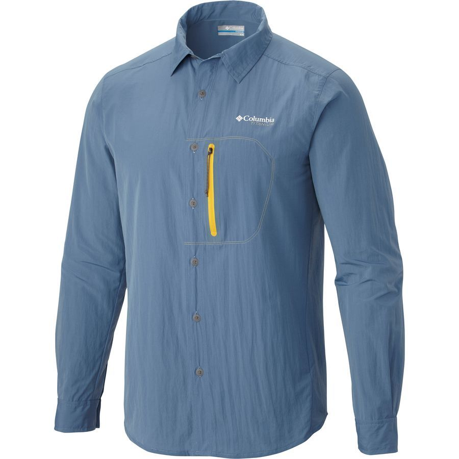8e3920ec1245 Columbia Featherweight Hike Shirt - Long-Sleeve - Men s Steel ...