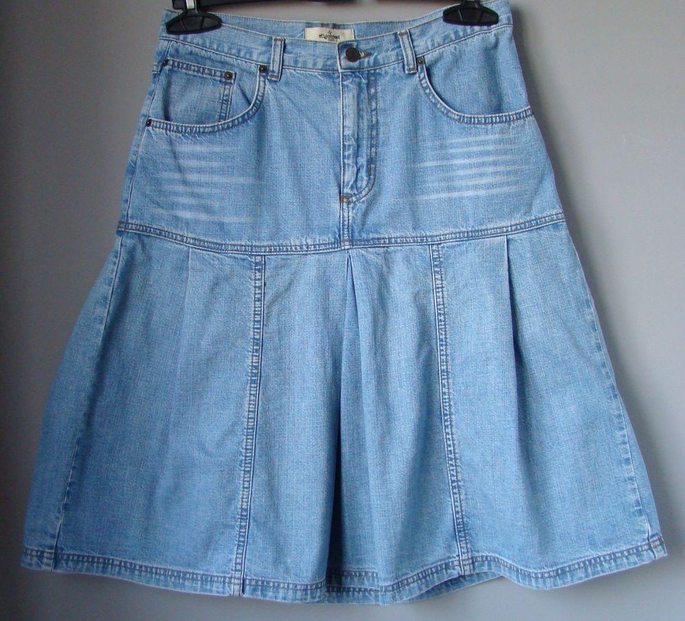 midi jeans ginocchio Gonna DENIM jupe blu NEIGHBORHOOD PIEGHE skirt w7HgZ cd2f28beaf6