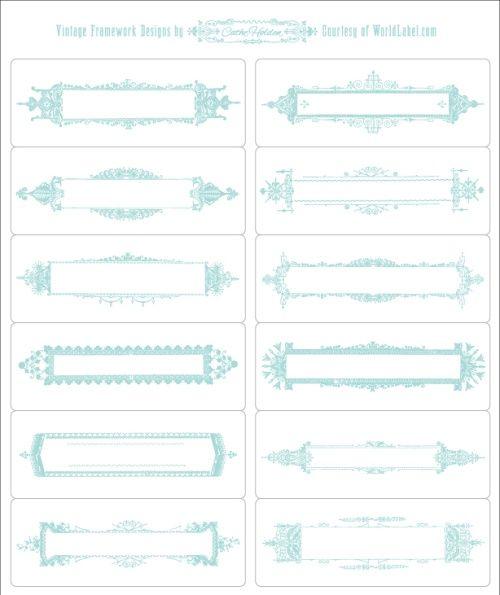 Free Download Vintage frame work design labels Really - free label templates download