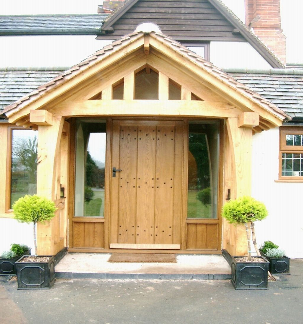 Door porches wooden door canopy porch canopy for Balcony roof ideas