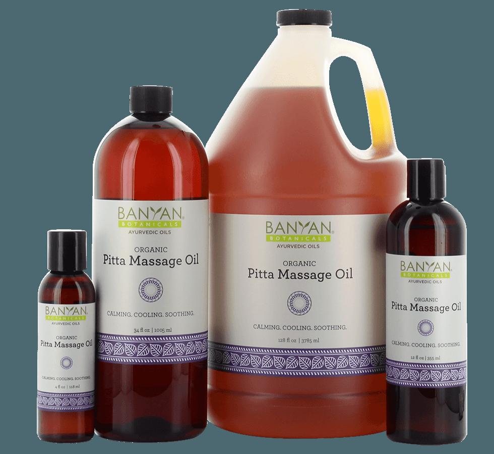 Buy Pitta Massage Oil Online - Organic Pitta Massage Oil for Sale | Banyan Botanicals