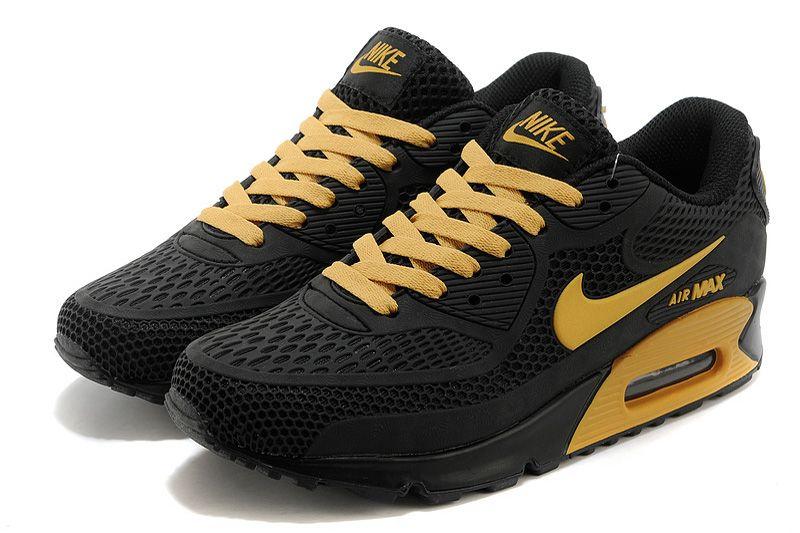 Nike Air Max 90 Zapatos de Hombre Negro / Amarillo | ROPA MAN | Pinterest | Nike Air Max 90s, Air Max 90 and Nike Air Max
