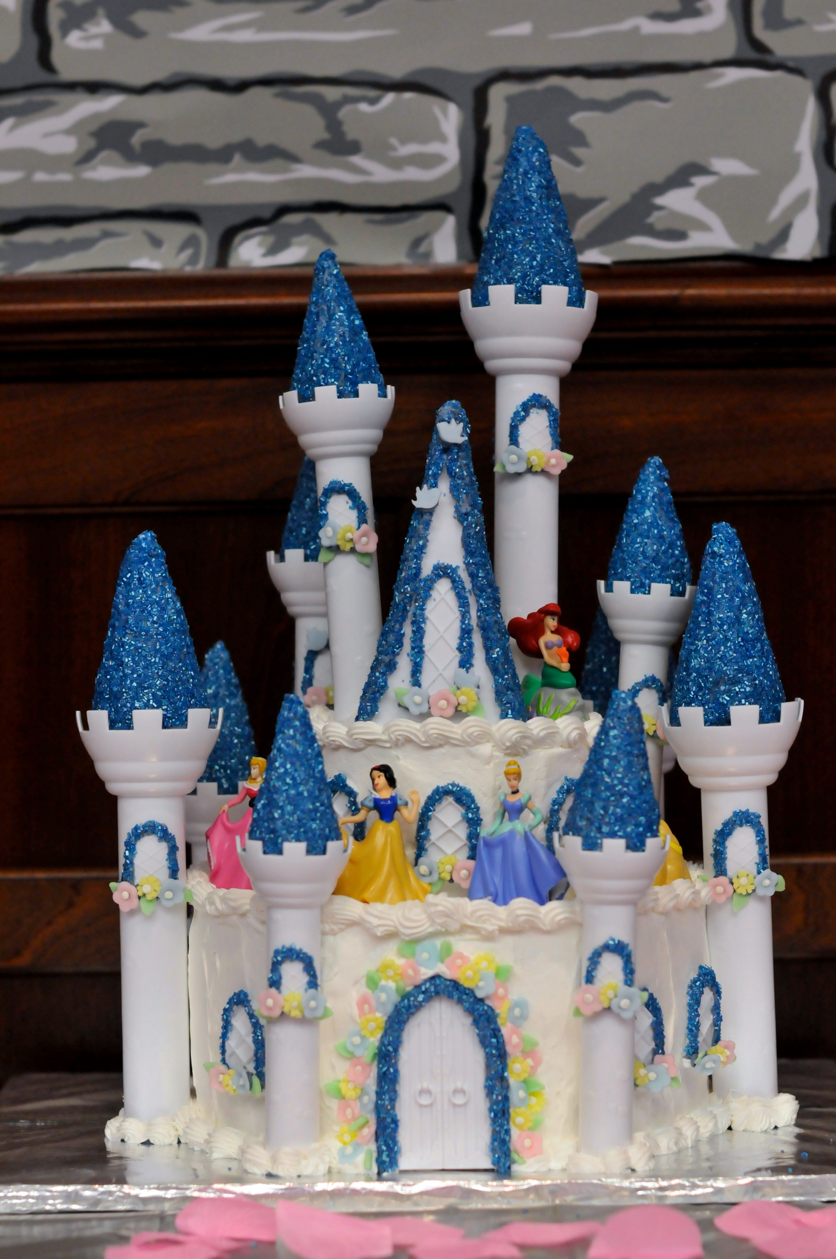 Disney Princess Castle Cake Birthday Party Ideas For