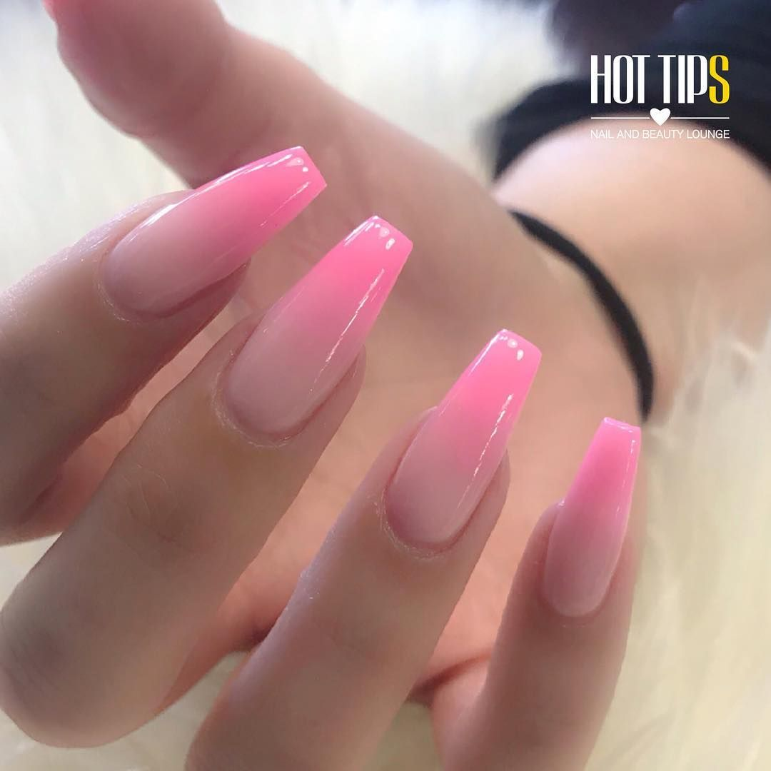 Gorgeous Hot Pink Ombre Nails For Our Dear Friend Bethroccisano Hottipsbeauty Ombrenails Coffinnails Pink Ombre Nails Ombre Nails Pink Acrylic Nails