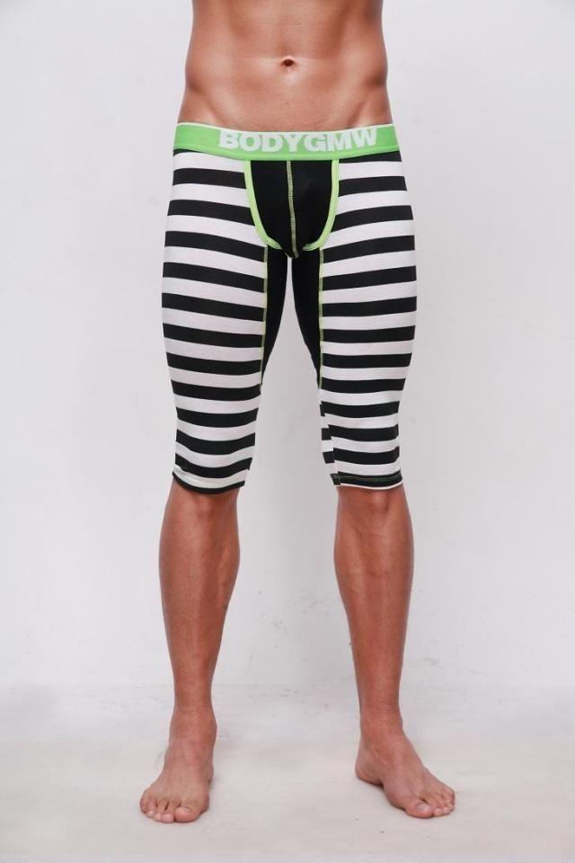 the gmw new modal men's striped pants fitness pants slacks yoga ...