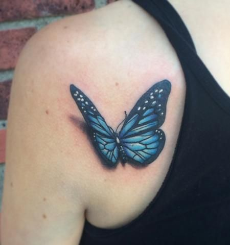 39 Awesome Realistic 3d Butterfly Tattoos Images Butterfly Tattoo Designs Butterfly Tattoo Blue Butterfly Tattoo