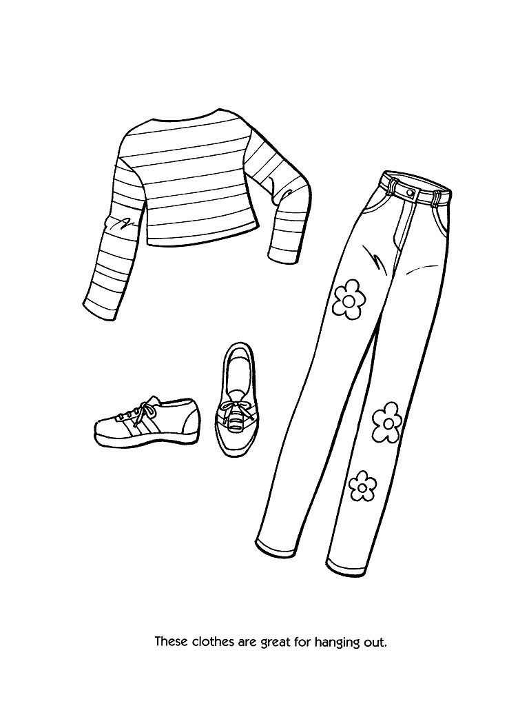 barbie fashion clothes coloring page Only Coloring Pages ...