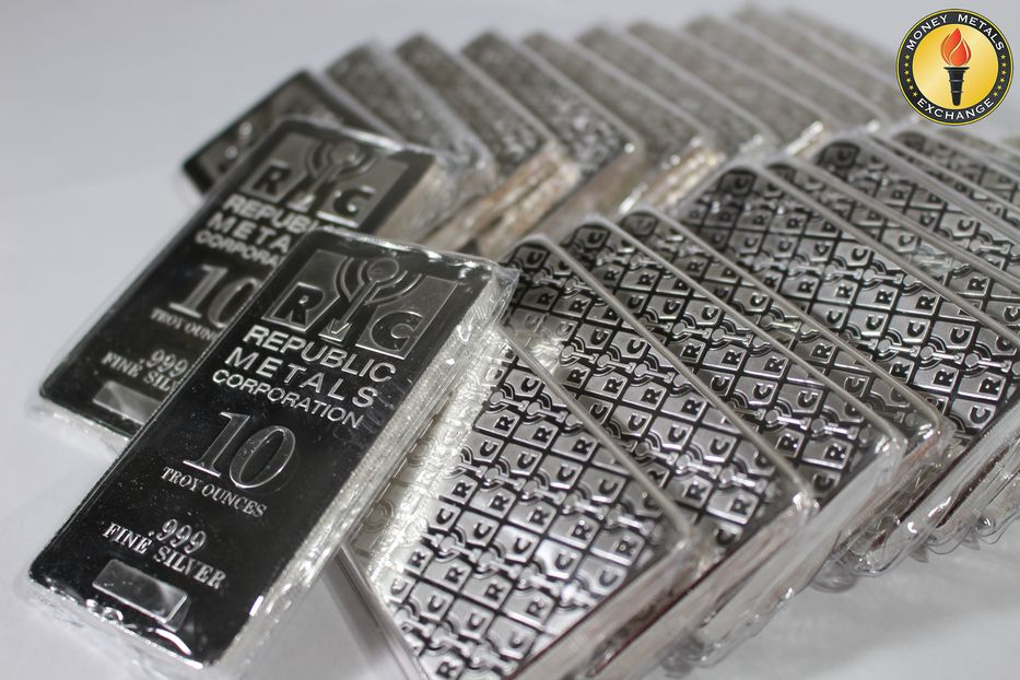 10 Oz Silver Bars For Sale 10 Troy Weight Bullion Money Metals Exchange Llc Silver Bars Silver Bullion Gold Money