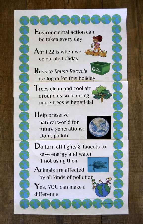 Earth Day Poster Freebie In Acrostic Poem Format Earth Day