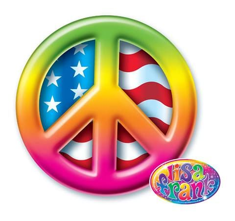 Lisa Frank Peace Sign Such Vibrant Color Lisa Frank Stickers Peace Sign Lisa Frank