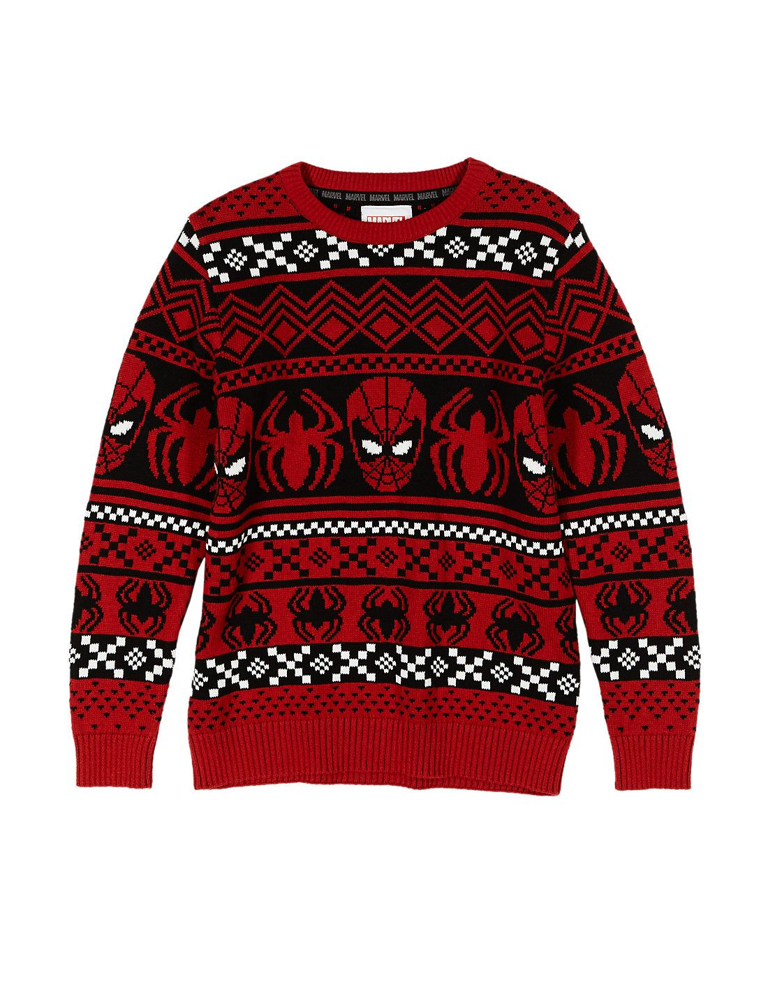 Pure Cotton Spider-Man™ Christmas Jumper (5- 14 Years)