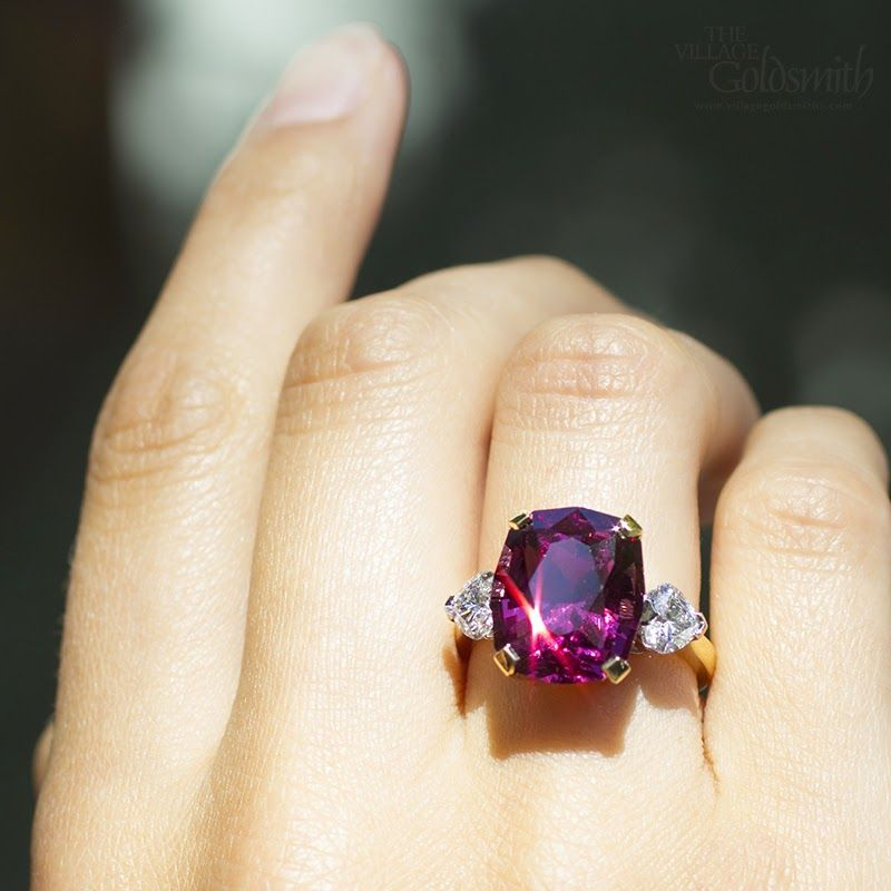 rings in ring with garnet diamonds rose rhodolite gold