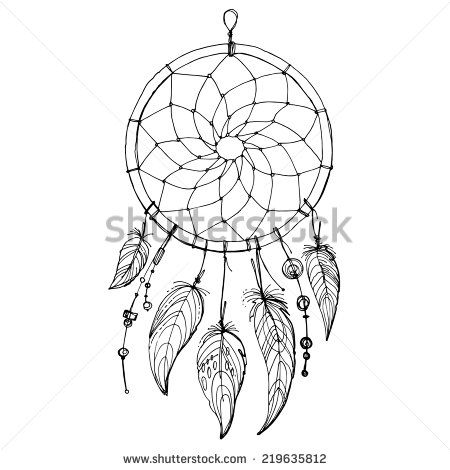 dream catcher tattoo template - dreamcatcher stock photos images pictures
