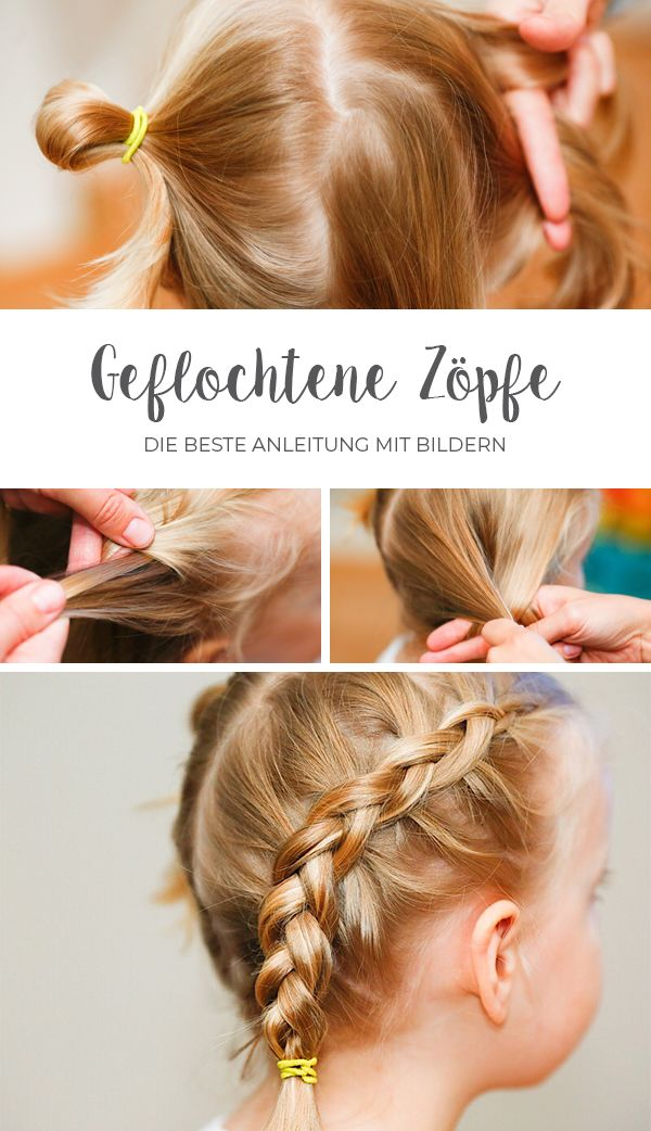Geflochtene Zöpfe // Anleitungen mit Bildern | Mamafreundin – Blog