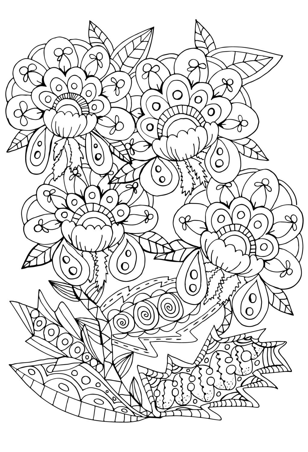 Coloring Pages for Adult, Adult Coloring Pages, Adult Coloring ...