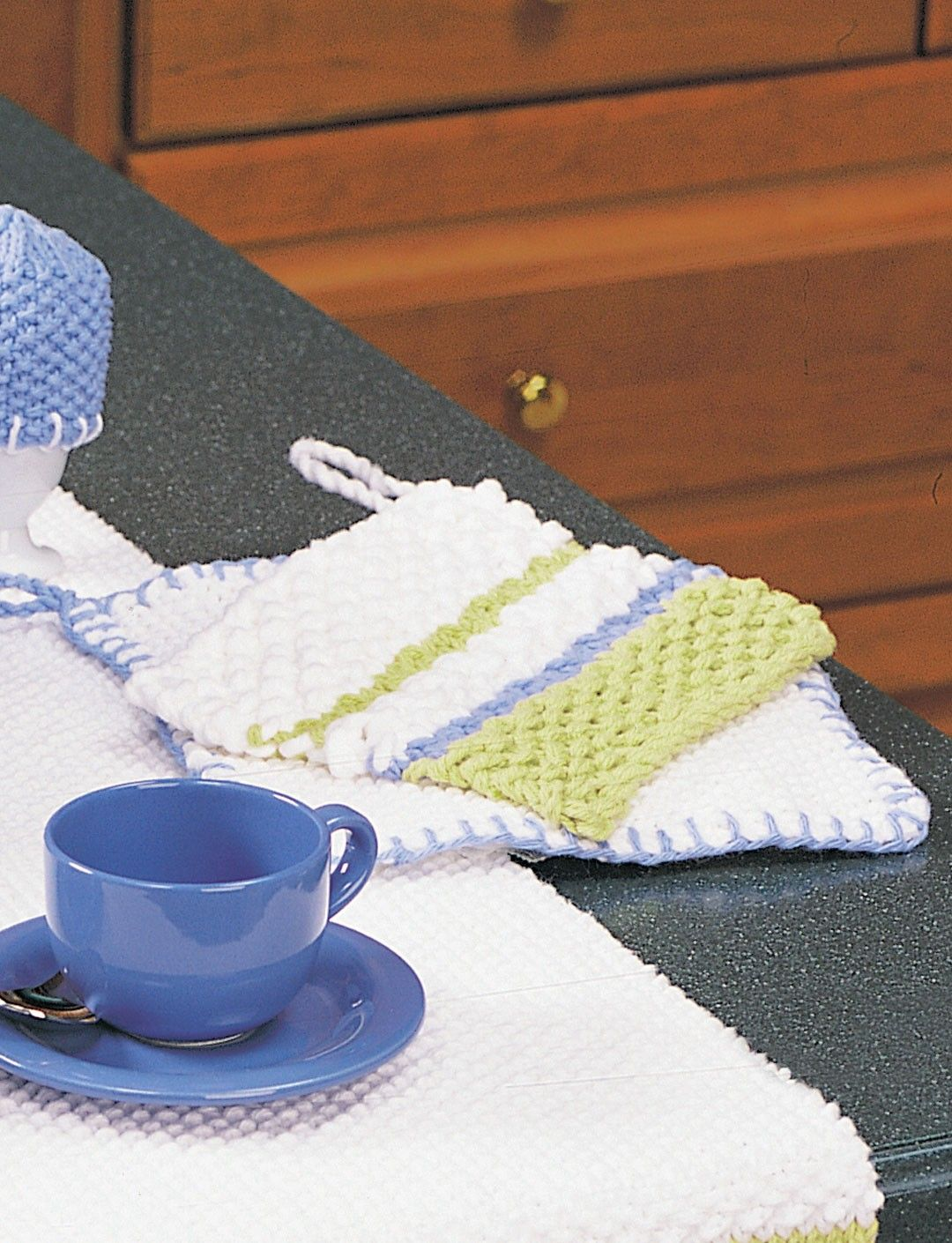 Yarnspirations.com - Lily Striped Pot Holder - Patterns ...