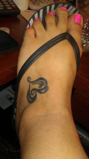 Heart Foot Tattoo Position