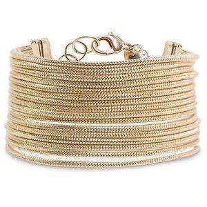 MANGO Snake chains bracelet