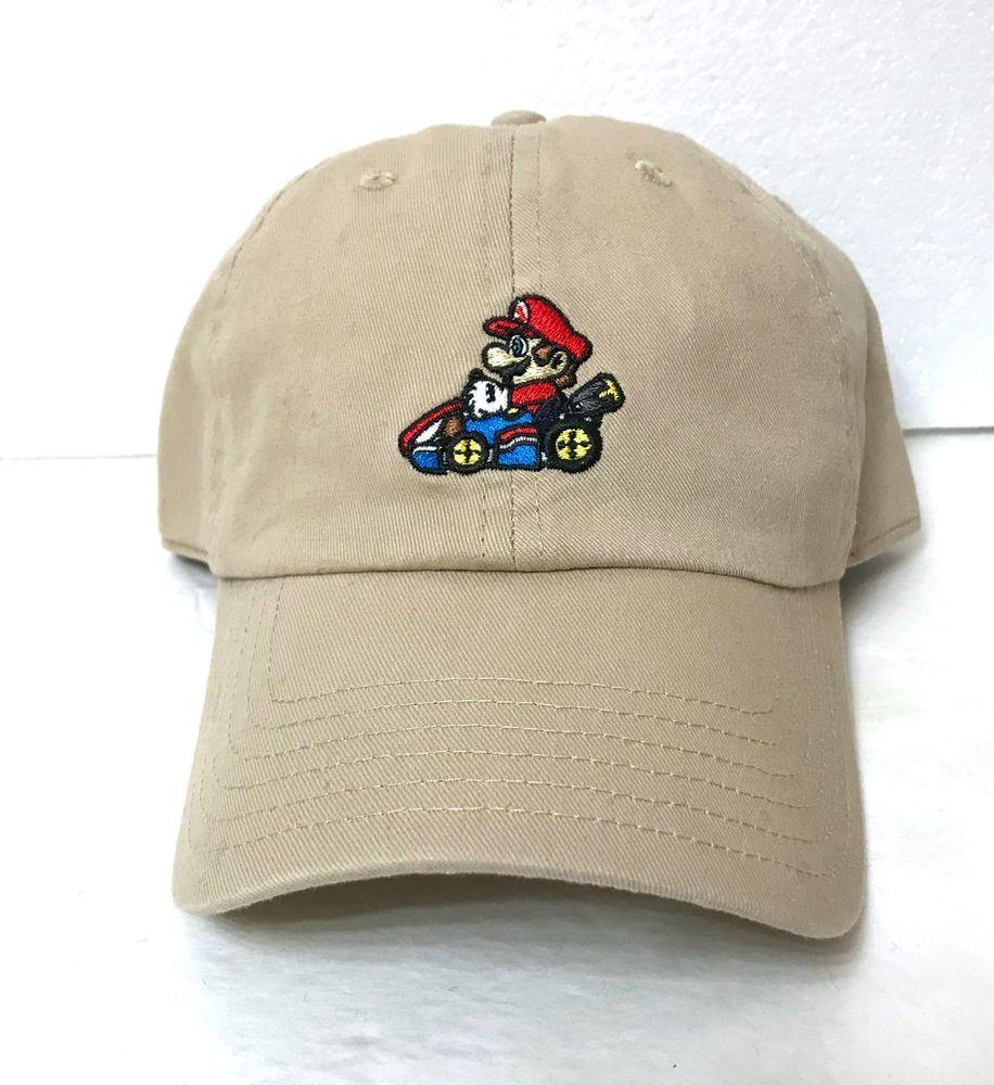 new MARIO KART DAD CAP khaki unstructured nintendo super mariokart  men women 64  Bioworld  BaseballCap 62c5084a4b8c