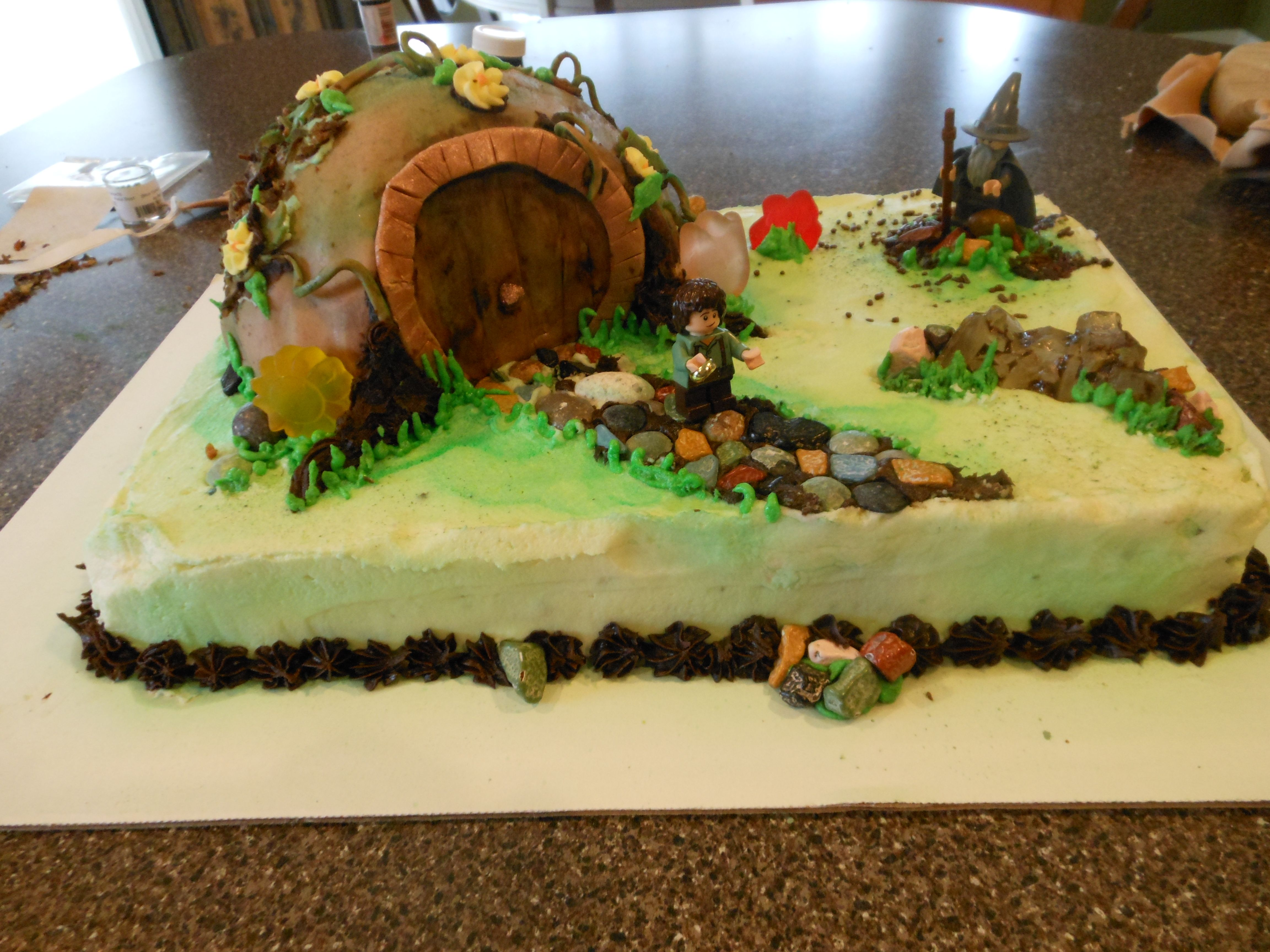 Lord Of The Rings Cake I Made Rene Mckale Cakes Cupcakes