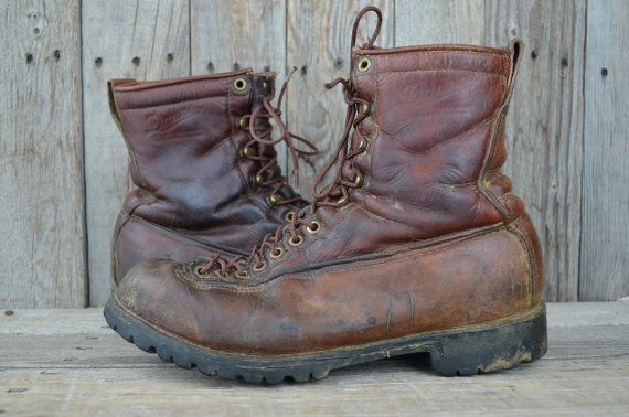 75db3b4e715 Vintage Danner Lace To Toe Mountaineer Hiking Monkey Work Boots ...