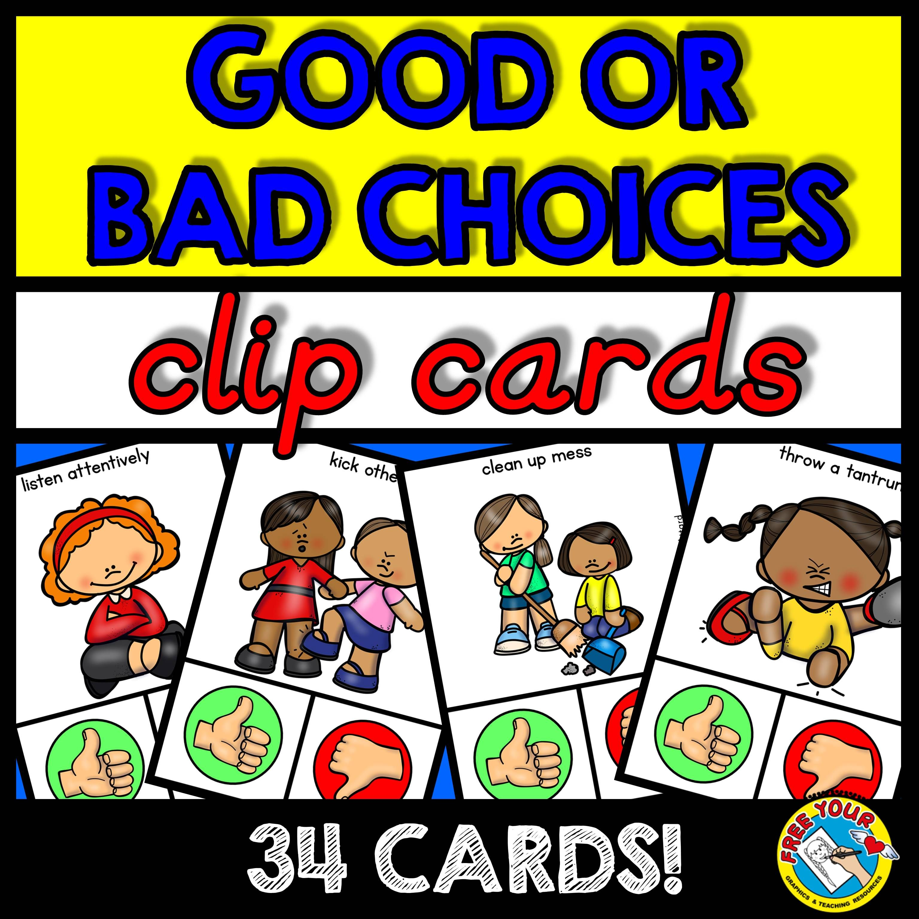 Good Choices Bad Choices Sort Back To School Activity